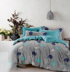 Акция на Комплект постельного белья MirSon Бязь 17-0431 Turquoise valley 220х240 (2200002986045) от Rozetka