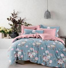 Акция на Комплект постельного белья MirSon Бязь Premium 17-0434 Azure flower 175х210 (2200002991681) от Rozetka