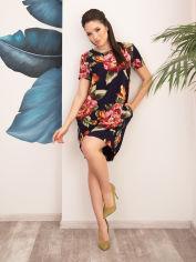 Акция на Платье ISSA PLUS 12546 4XL Синее (2001329343333) от Rozetka