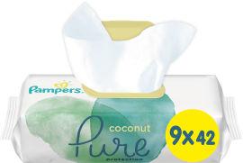Акция на Детские влажные салфетки Pampers Pure Coconut 378 шт (8001841709017) от Rozetka