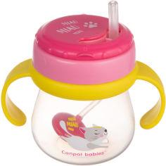 Акция на Кружка Canpol babies со складывающейся силиконовой трубочкой и утяжелителем 250 мл Котик Розовая (56/520) от Rozetka