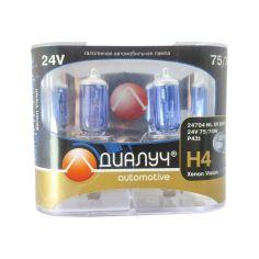 Акция на Штатные Лампы цоколь H4 24V Вольт 75/70W Ватт P43T. Лампы с эффектом ксенона Cool Blue Intense + 100% от Allo UA