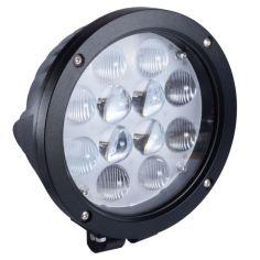 Акция на Фара LED круглая 60W (12 диодов х 5W) 3D линза black (для тяжелой техники) от Allo UA