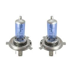 Акция на Автомобильные Лампы цоколь H4 24V Вольт 75/70W Ватт P43T. Лампы с эффектом ксенона Cool Blue Intense + 100% от Allo UA