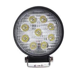 Акция на LED фара круглая 27W, 9 ламп, широкий луч 10/30V 6000K от Allo UA