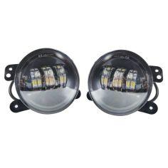 Акция на Штатные LED фары противотуманные c cветотеневой границей Рено, Дачия Логан Противотуманные Dacia Renault Logan от Allo UA
