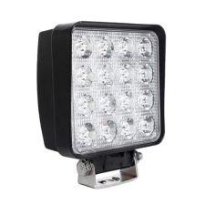 Акция на LED (Лед) фара квадратная 48W, (16 диодов х 3 ват = 48 Ват), широкий луч 10/30V 6000K от Allo UA