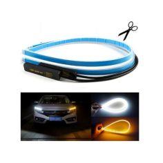 Акция на Гибкие ленты LED ДХО с повторителем поворотов 45 см! Дневные ходовые огни (ДХО) c поворотником от Allo UA