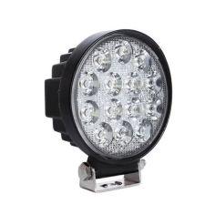 Акция на LED фара круглая 42W, 14 ламп, узкий луч 10/30V 6000K от Allo UA