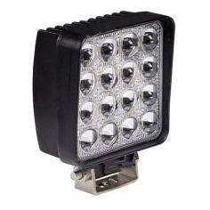 Акция на Фара LED квадратная 48W (широкий луч) 3D линза от Allo UA