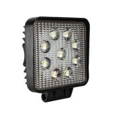 Акция на LED фара квадратная 27W, 9 ламп, широкий луч 10/30V 6000K от Allo UA