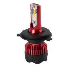 Акция на К5 Лампа светодиодная цоколь H3 red (к-кт 2 шт) 12/24V, 60W, 4500Lm + вентилятор (авиац. алюмин.) от Allo UA