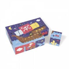 Акция на Кубики картонные Janod Пираты J02984 от Podushka
