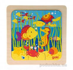 Акция на Пазл деревянный goki Море 57499-4 от Podushka