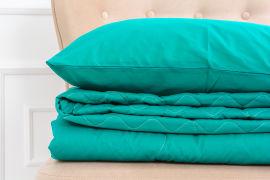 Акция на Летний постельный комплект MirSon №2689 Шерсть 17-4735 Caterina одеяло 110x140 см + наволочки 2 х 40х60 см (2200003115000) от Rozetka
