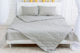 Акция на Одеяло шерстяное MirSon Летнее №2388 Light Gray 155x215 (2200003032581) от Rozetka