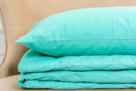 Акция на Летний постельный комплект MirSon №2620 EcoSilk 11-2208 Mint одеяло 220x240 см + наволочки 2 х 50х70 см (2200003110067) от Rozetka