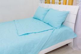 Акция на Летний постельный комплект MirSon №2475 Шерсть 12-4608 Lucretia одеяла 2 х 155х215 см + наволочки 2 х 50х70 см + простынь 220x240 см (2200003097283) от Rozetka