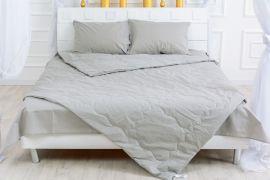 Акция на Летний постельный комплект MirSon №2607 Silk Kapok 16-5703 Light Gray Одеяло + 2 подушки 40x60 + 2 наволочки + простынь (2200003106237) от Rozetka