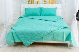 Акция на Летний постельный комплект MirSon №2597 Евкалипт 11-2208 Mint Одеяло + 2 подушки 50x70 + 2 наволочки + простынь (2200003105803) от Rozetka
