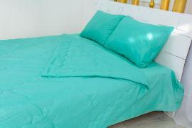 Акция на Летний постельный комплект MirSon №2465 BamBoo 11-2208 Mint одеяло 172х205 см + наволочки 2 х 50х70 см + простынь 200x220 см (2200003096545) от Rozetka