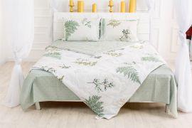 Акция на Летний постельный комплект MirSon №2599 Евкалипт 17-0006 Donata Одеяло + 2 подушки 40x60 + 2 наволочки + простынь (2200003105421) от Rozetka