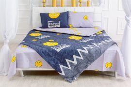 Акция на Летний постельный комплект MirSon №2528 Eco-Soft 17-0067 Manon Одеяло + 2 подушки 50x70 + 2 наволочки + простынь (2200003101171) от Rozetka
