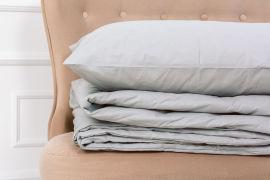 Акция на Летний постельный комплект MirSon №2691 Шерсть 16-5703 Light Gray одеяла 2 х 140x205 см + наволочки 2 х 50х70 см (2200003115444) от Rozetka
