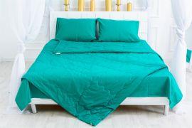 Акция на Летний постельный комплект MirSon №2558 Хлопок 17-4735 Caterina Одеяло + 2 подушки 50x70 + 2 наволочки + простынь (2200003108866) от Rozetka