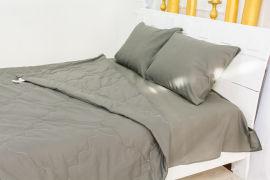 Акция на Летний постельный комплект MirSon №2496 Silk Kapok 16-5803 Geronimo одеяла 2 х 155х215 см + наволочки 2 х 50х70 см + простынь 220x240 см (2200003098785) от Rozetka