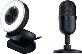 Акция на Хит-комплект Веб-камера Razer Kiyo Black (RZ19-02320100-R3M1) + Микрофон Razer Seiren mini (RZ19-03450100-R3M1) от Rozetka