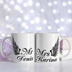 Акция на Набор парных чашек для влюбленных MRS & MR - имена меняем (ART_631) от Allo UA