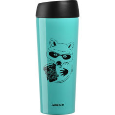 Акция на Термокружка Ardesto Coffee Time Raccon 450 мл Blue (AR2645DTB) от Foxtrot