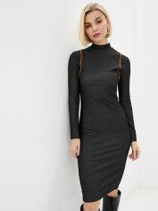 Акция на Платье Promin 2050-78_020 L Черное с оранжевым (PR4820150200589) от Rozetka