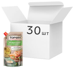 Акция на Упаковка майонезного соуса ТОРЧИН Деликатесный 300 г х 30 шт (4820001315875) от Rozetka