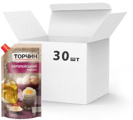 Акция на Упаковка майонеза ТОРЧИН Европейский 300 г х 30 шт (4820001316018) от Rozetka