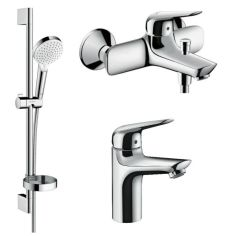 Акция на Комплект смесителей для ванны HANSGROHE NOVUS 1152019 хром латунь 74526 от Allo UA