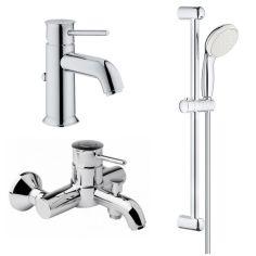 Акция на Набор смесителей для ванны GROHE BAUCLASSIC 123868S хром латунь 77015 от Allo UA