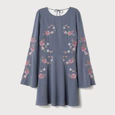Акция на Платье H&M 0665228-8 38 Серое с голубым (2000001640463) от Rozetka
