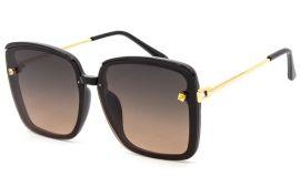 Акция на Солнцезащитные очки женские поляризационные SumWin 3231 Черно-коричневый градиент от Rozetka