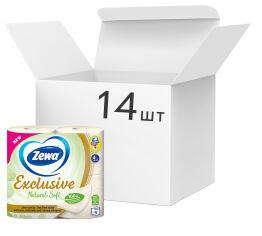 Акция на Упаковка туалетной бумаги Zewa Natural Soft бело-кремовой 4 слоя 10 упаковок по 4 рулона (7322541270067) от Rozetka