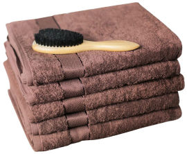 Акция на Махровое полотенце SoundSleep Rossa 100х150 см Шоколад (93216654) от Rozetka