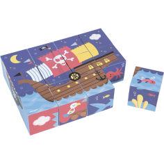 Акция на Кубики картонные JANOD Пираты 12 эл (J02984) от Foxtrot