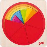 Акция на Пазл-вкладыш Goki Круг (57737G) от Foxtrot