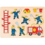 Акция на Пазл-вкладыш вертикальный GOKI пожарная команда (57471G) от Foxtrot