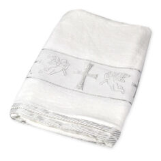 Акция на Крыжма для крещения Gulcan Ангелы серебро 70х140 см от Podushka