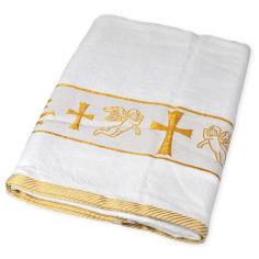 Акция на Крыжма для крещения Gulcan Ангелы золото 70х140 см от Podushka