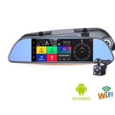 Акция на Автомобильный видеорегистратор зеркало DVR FULL HD D35 от Allo UA