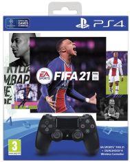 Акция на Беспроводной геймпад SONY Dualshock 4 V2 Jet Black для PS4 (FIFA 21+PSPlus 14 дней) (9835325) от MOYO