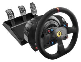 Акция на THRUSTMASTER Руль и педали PC/PS4/PS3 T300 Ferrari Integral RW Alcantara edition (4160652) от Repka